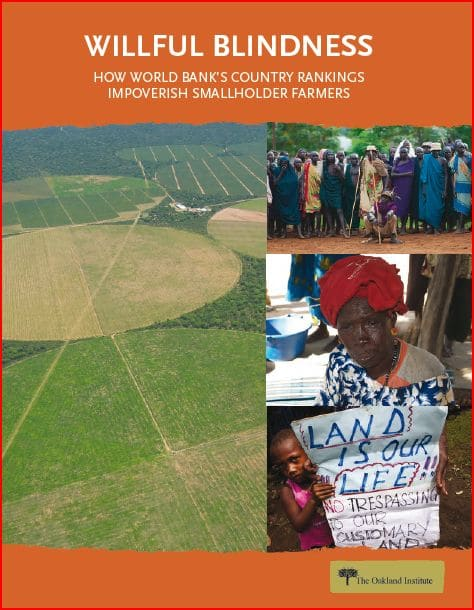 Report : Willful Blindness - How World Bank's Country Rankings Impoverish Smallholder Farmers