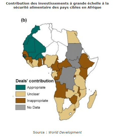 Une évaluation de l'impact des acquisitions foncières à grande échelle sur la sécurité alimentaire des pays cibles en Afrique