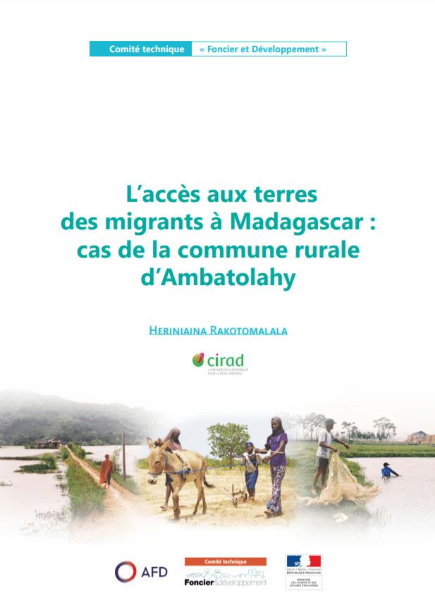 L'accès aux terres des migrants à Madagascar : cas de la commune rurale d'Ambatolahy