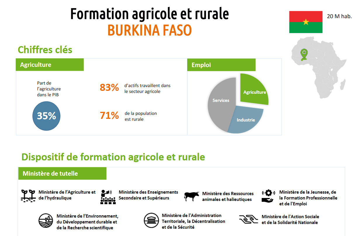 Fiches pays synthétiques sur la Formation agricole et rurale (FAR)