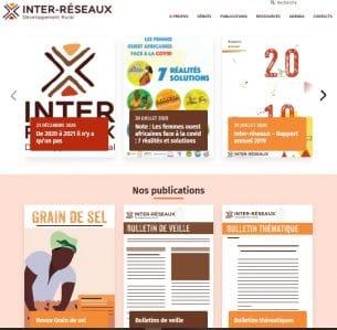 Page d'accueil de la refonte 2021