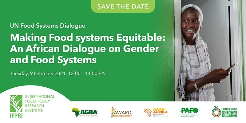 Dialogue africain sur le genre et les systèmes alimentaires