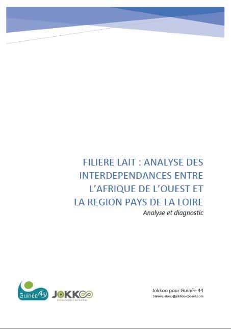 Filière lait - Analyse des interdépendances entre l'Afrique de l'Ouest et la région Pays de la Loire (France)