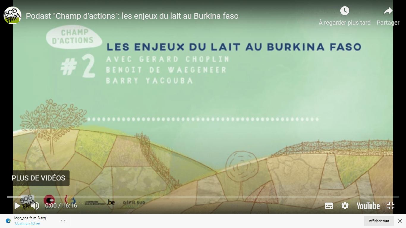 Enjeux du lait au Burkina Faso