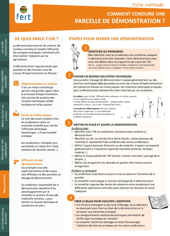 Le pack conseil : fiches méthodes et outils à destination des acteurs du conseil agricole