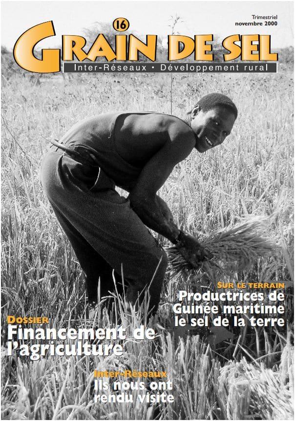 16 : Financement de l'agriculture