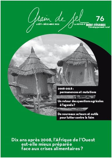 N°76 - Dix ans après 2008, l'Afrique de l'Ouest est-elle mieux préparée face aux crises alimentaires ?