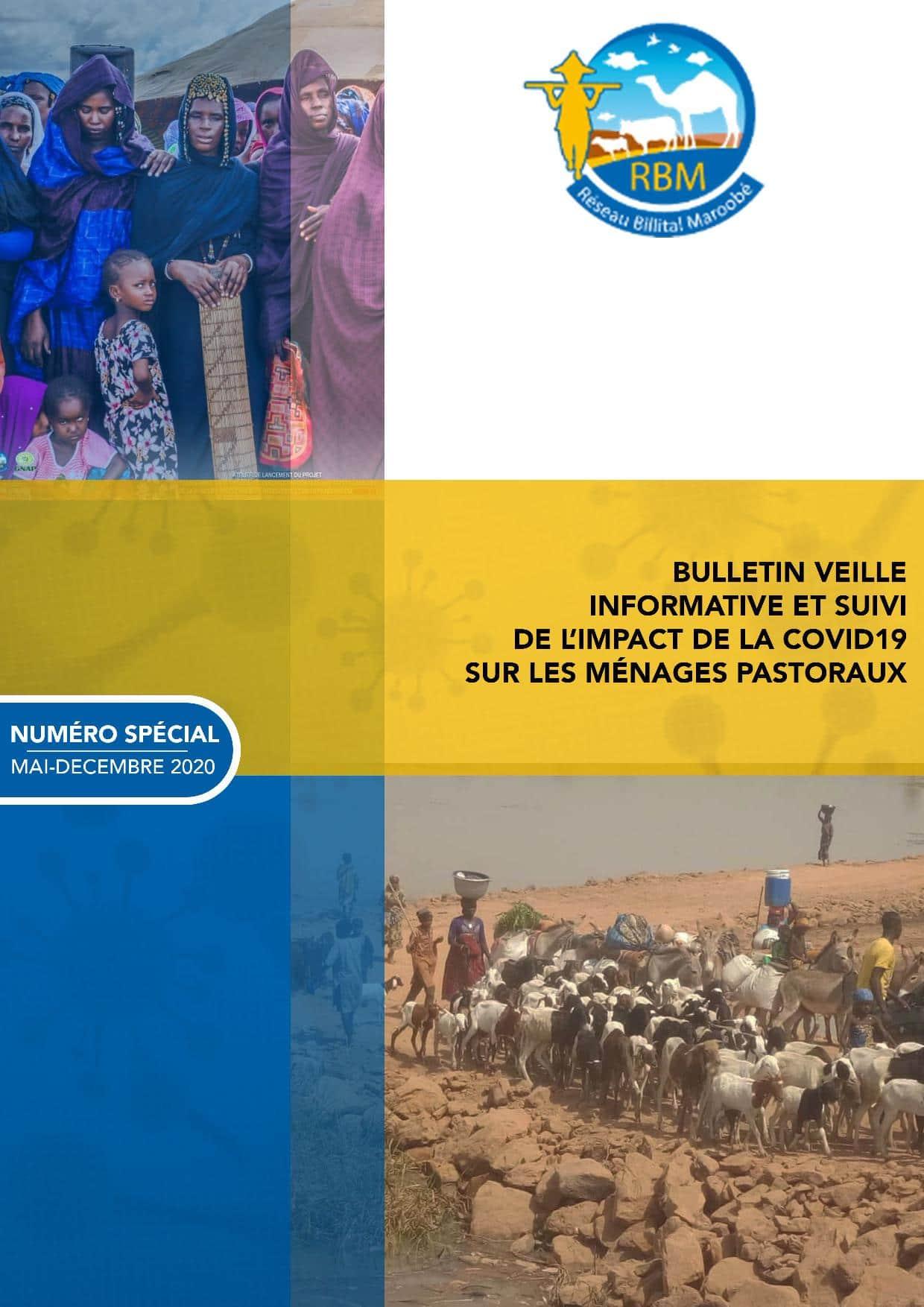 Bulletin de veille informative et suivi de l'impact de la Covid-19 sur les ménages pastoraux