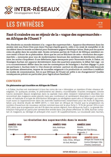Synthèse n°32 : Faut-il craindre ou se réjouir de la «vague des supermarchés» en Afrique de l'Ouest ?