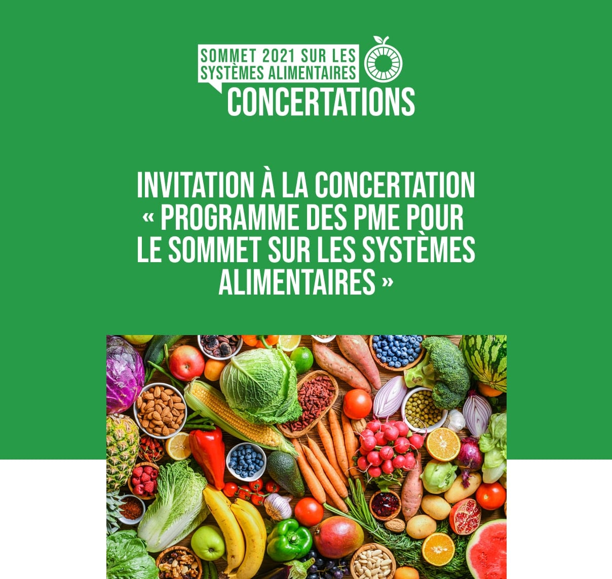 Programme des petites et moyennes entreprises pour le Sommet sur les systèmes alimentaires